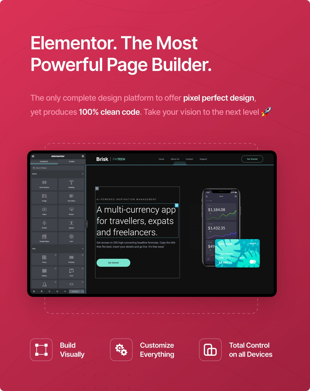 Elementor. The Most Powerful Page Builder.
